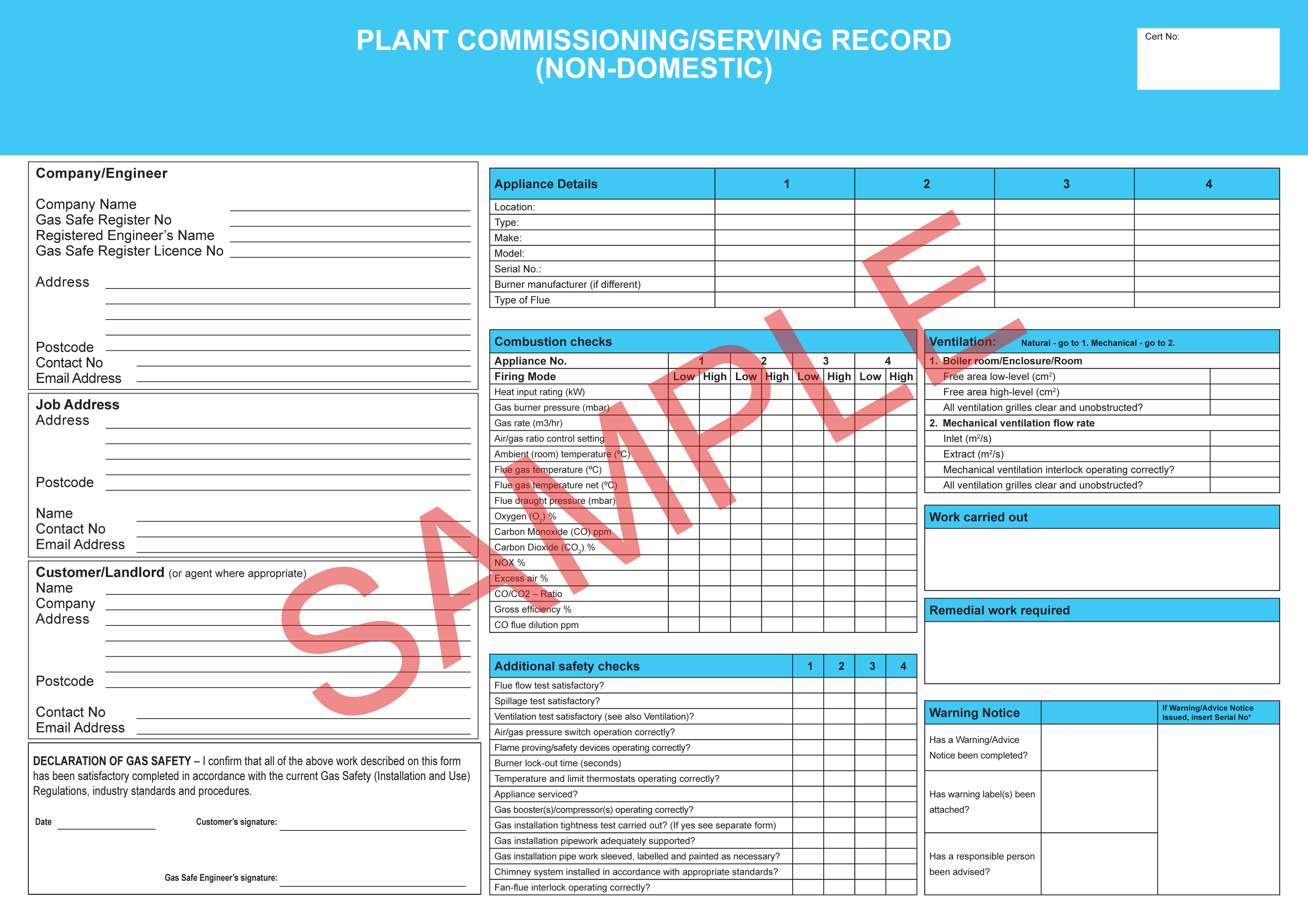 Chimney Inspection Report Template