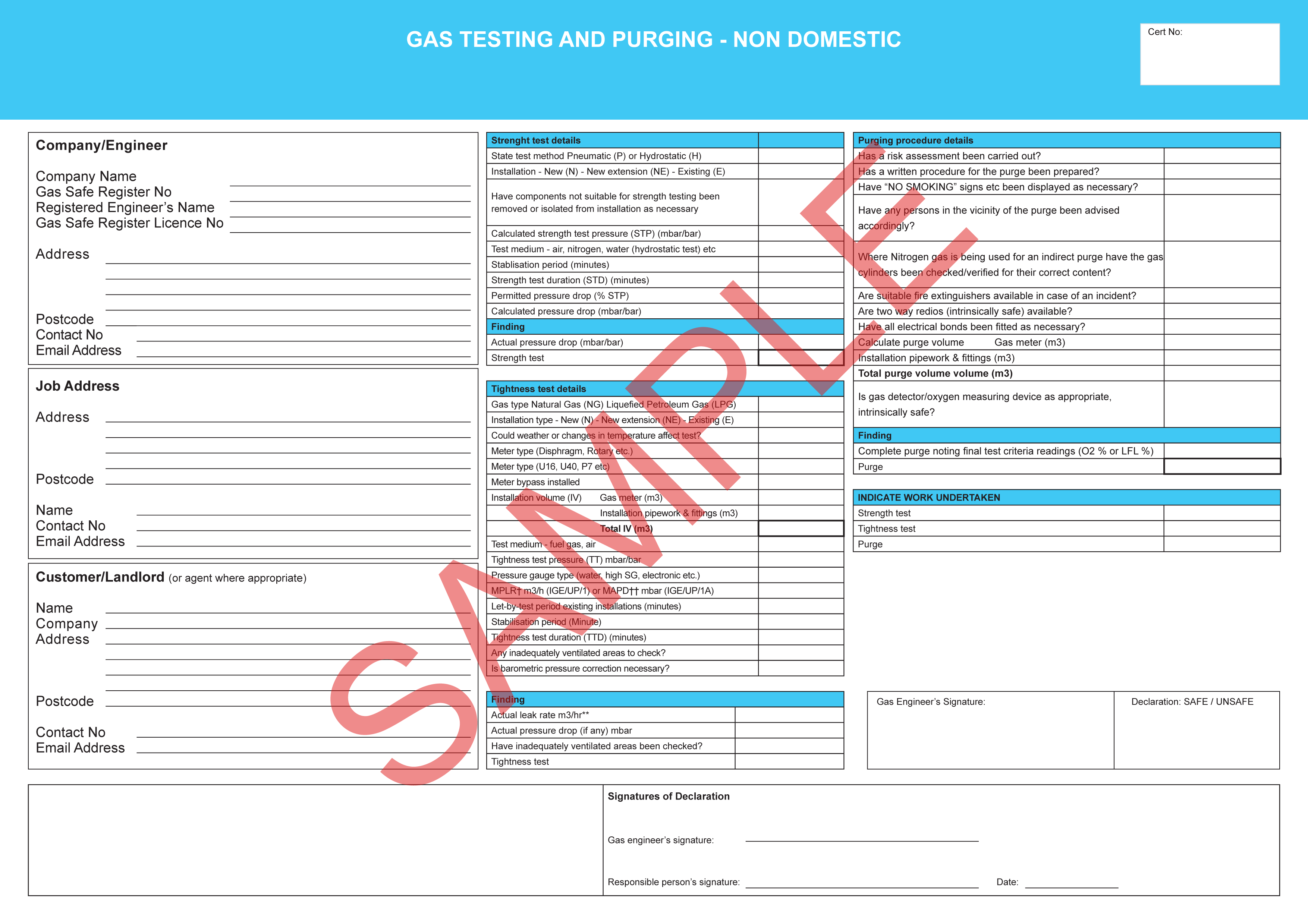 Certificates everycert gas testing and purging non domestic xflitez Image collections